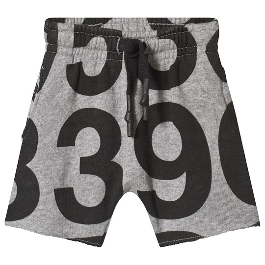 NUNUNU Numbered Sweatshorts Heather Grey Grey