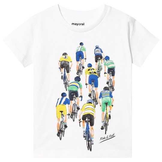 Mayoral White Cycling Print Tee 64