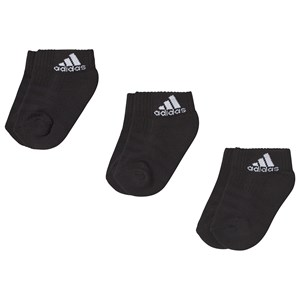 Image of adidas Performance Black 3-Pack Socks 19-22 (UK 3-5) (3125309471)