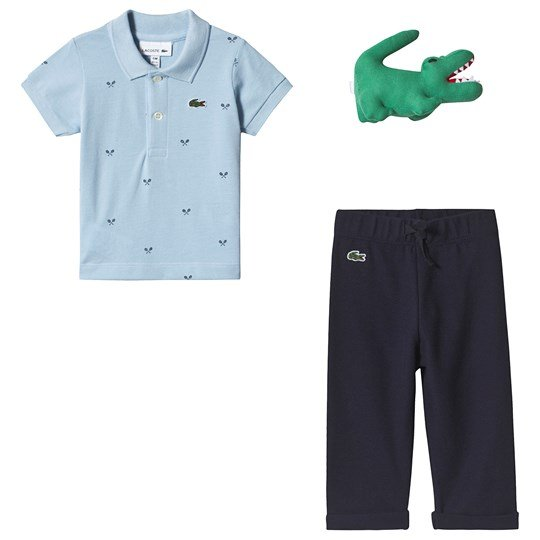 Lacoste Blue and Navy Polo and Sweatpants Gift Set 8VH