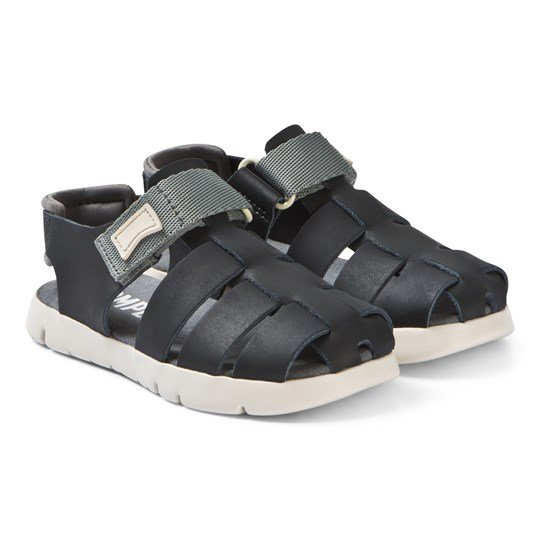 Camper Navy Leather Closed Toe Mira Sandals 003