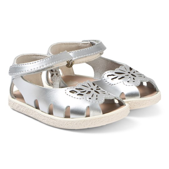 Camper Silver Leather Butterfly Sandals 001