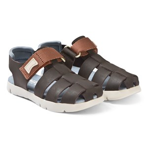 Image of Camper Brown Leather Closed Toe Mira Sandals 25 (UK 7.5) (3125318573)