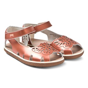 Image of Camper Copper Leather Butterfly Sandals 26 (UK 8.5) (3125315001)
