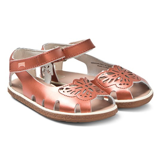 Camper Copper Leather Butterfly Sandals 001