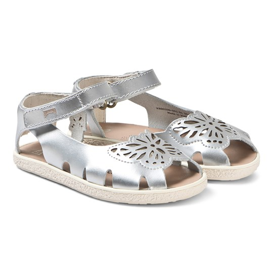 Camper Butterfly Sandaler Silver Leather 002