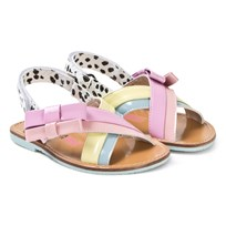 ff95b05759 Sophia Webster Mini Pink and Multi Pastel Andie Bow Sandals Multi Pastel