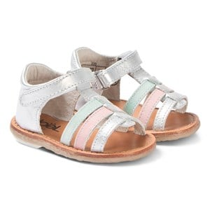 Image of Noël Mini Servi Strappy Sandals Silver/Pink/Mint 21 (UK 4.5) (3125272351)