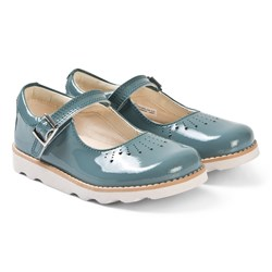 Clarks Crown Jump Mary Janes Teal Patent