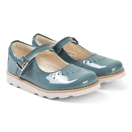 Clarks Crown Jump Mary Janes Teal Patent Teal Leather