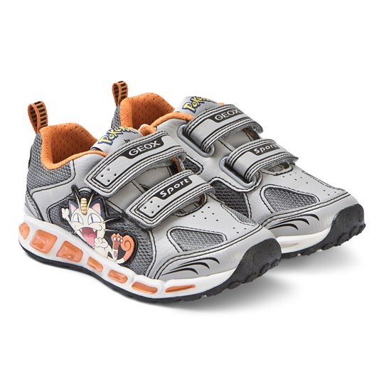 Geox Grey and Orange Shuttle Sneakers C0036