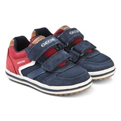 Geox Navy and Red Vita Sneakers