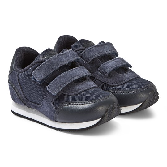BOSS Navy Suede and Leather Branded Sneakers 849