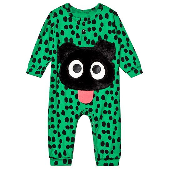 Wauw Capow Harry Green One-Piece with Black Dots Green with black dots