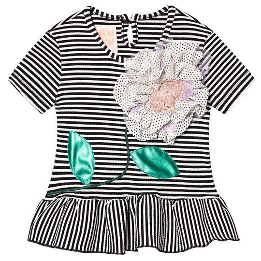 Wauw Capow Elly Summer Top Black/White Striped Black and White striped
