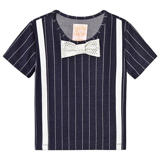 Wauw Capow Louis Blue Top with White Stripes Blue with white stripes