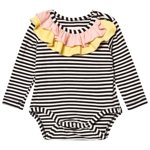 Image of Wauw Capow Anna Baby Body Black/White Striped 68 cm (4-6 mdr) (3125344797)