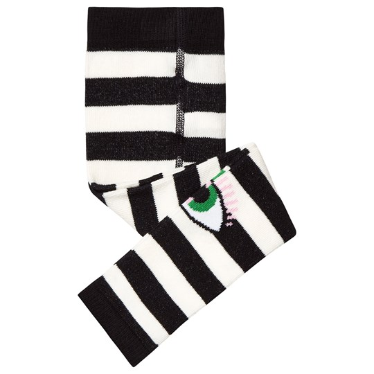 Wauw Capow Bowie Leggings Black/White Striped Black and White striped