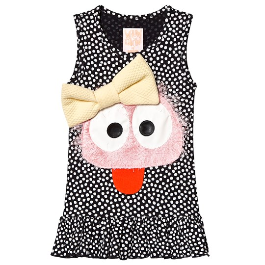 Wauw Capow Roberta Black Dress with White Dots Black with white dots