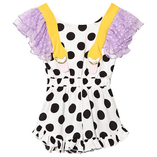 Wauw Capow Mexico Romper White with Black Dots White with black dots