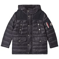 Moncler Navy Loir Down Hooded Coat 742 a7a707ce1f104