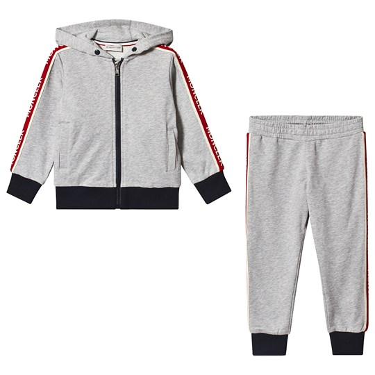 Moncler Grey Logo Hooded Completo Tracksuit 980