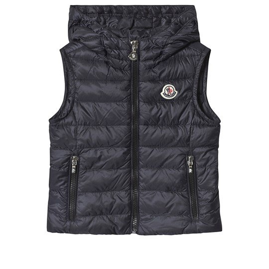 Moncler Navy Sucre Quilted Down Hooded Gilet 778