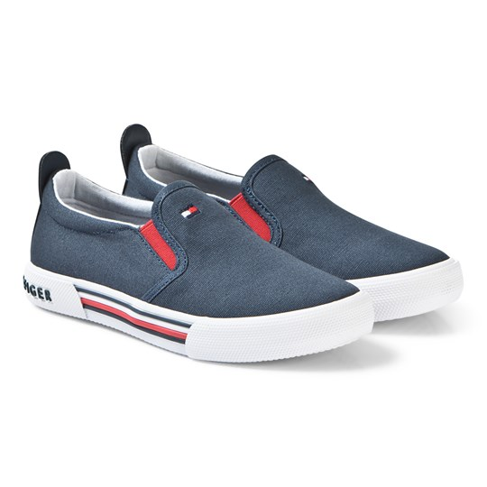 Tommy Hilfiger Navy Logo Slip On Sneakers 800