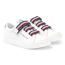Tommy Hilfiger White Velcro Sneakers
