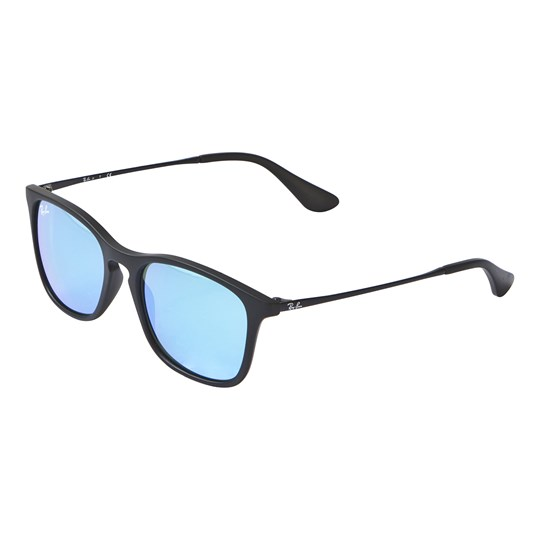 aaf27d29c1 Ray-ban - Chris Junior Sunglasses Black Blue Mirror - Babyshop.com