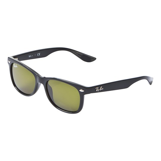Ray-ban New Wayfarer Junior Sunglasses Black/Green Classic 100/2