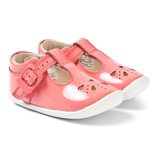 Clarks Roamer Star Pre-Walkers Coral Patent Coral Patent Leather