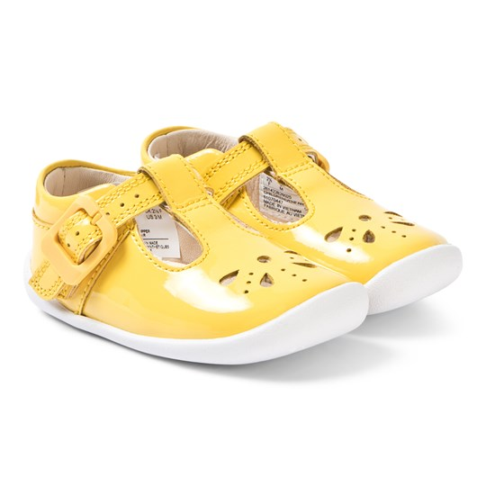 Clarks Roamer Star Pre-Walkers Yellow Patent Yellow Patent Leather