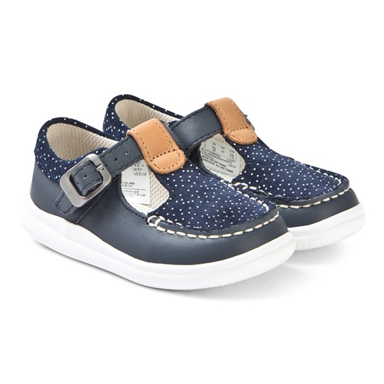 Clarks Cloud Rosa Shoes Navy Leather NAVY LEATHER