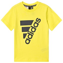 adidas Performance Yellow Logo Tee