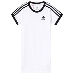 Image of adidas Originals Branded T-Shirt Dress White 10-11 years (146 cm) (3125329117)
