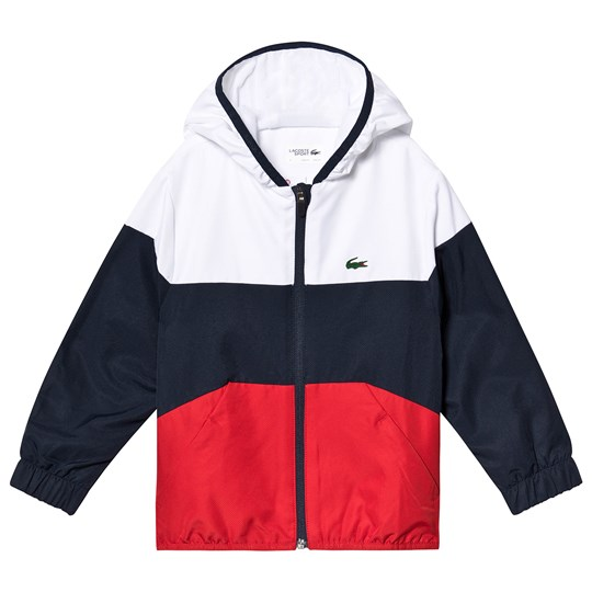 Lacoste Tafetta Lightweight Tennis Jacket Red/White/Navy A10