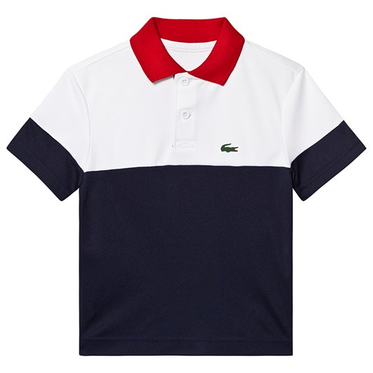 Lacoste Navy Colorblock Branded Tennis Polo A10