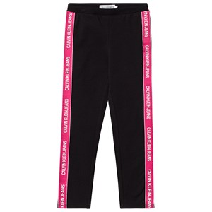 Image of Calvin Klein Jeans Black and Pink Logo Tape Leggings 10 years (3125258367)