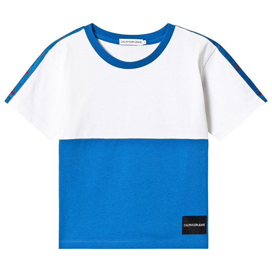 Calvin Klein Jeans White and Blue Oversize Tee 404