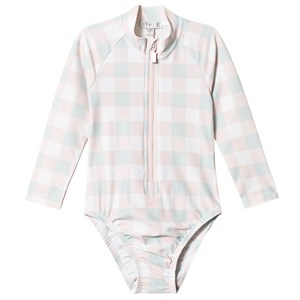 Image of Livly Alessia Swimsuit Pink Plaid 18-24 Months (3125344281)