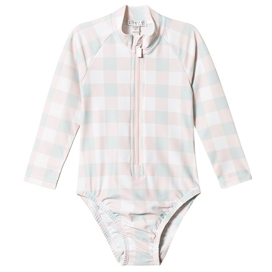 Livly Alessia Swimsuit Pink Plaid Pink Plaid