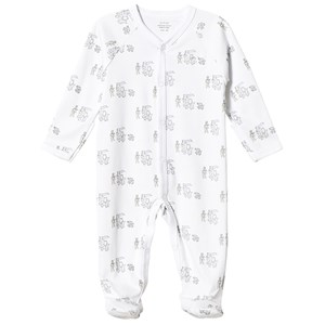 Image of Livly Animal Parade Simplicity Footed Baby Body White 1-3 Months (3125344215)