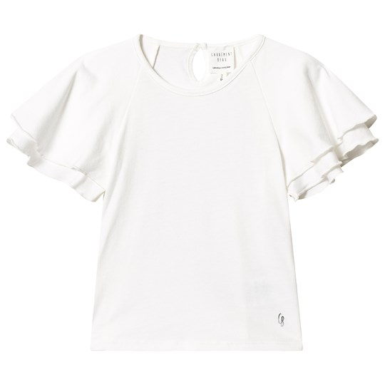 Carrément Beau White Cotton Ruffle Tee 117