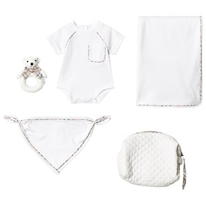 Image of Burberry White Check Detail Gift Set 1 month (3125256337)