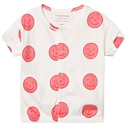 Tinycottons Happy Face Tröja Off White/Rose