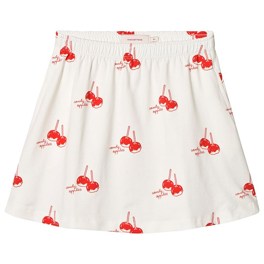Tinycottons Candy Apples Short Skirt Off White/Red off-white/red