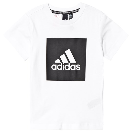 adidas Performance White Box Logo Tee White/Black
