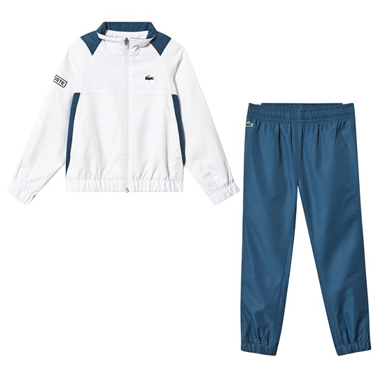 Lacoste White and Blue Tennis Tracksuit 9YM