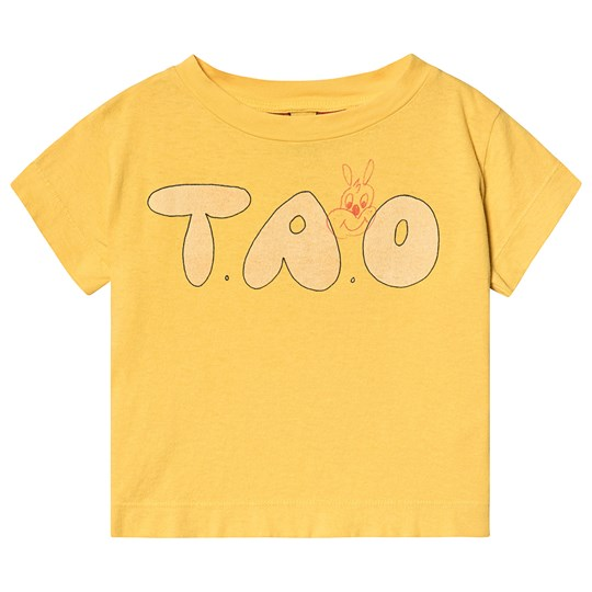 The Animals Observatory Rooster Kids T-Shirt Yellow Tao Yellow Tao